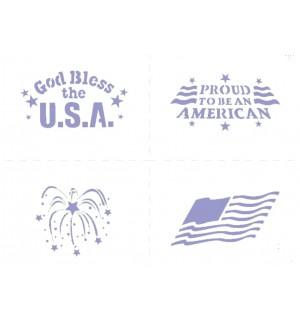 Patriotic airbrush stencil