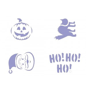 Christmas and Halloween airbrush stencil