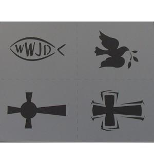 Christian airbrush stencil