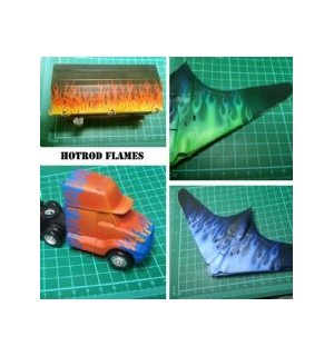 Stencil Hot Rod Flames
