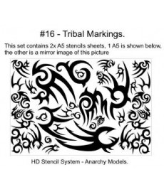 Stencil Tribal Markings